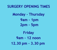 Surgery Opening Hours